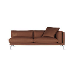 Como One-Arm Sofa in Leather, Right | Modular seating elements | Design Within Reach