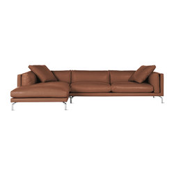 Como Sectional Chaise in Leather, Left | Modulare Sitzgruppen | Design Within Reach