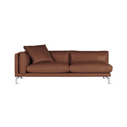 Como One-Arm Sofa in Leather, Left | Modular seating elements | Design Within Reach