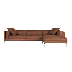 Como Sectional Chaise in Leather, Right | Modulare Sitzgruppen | Design Within Reach