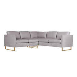 Goodland Small Sectional in Fabric, Bronze Legs | Modulare Sitzgruppen | Design Within Reach