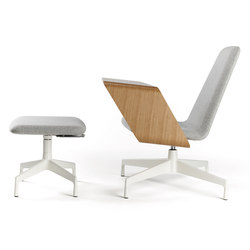 Harbor Work Lounge Chair & Ottoman | Loungesessel | Haworth