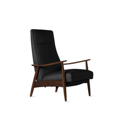 Milo Baughman Recliner 74 in Leather | Sillones reclinables | Design Within Reach