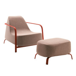 Bigfoot armchair + pouf | Fauteuils | Fast