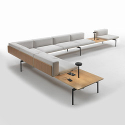 H-Sofa Corner Composition | Waiting area benches | Giulio Marelli