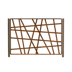CorTen Wild' Fencing Modules | Railings / Balustrades | Streetlife