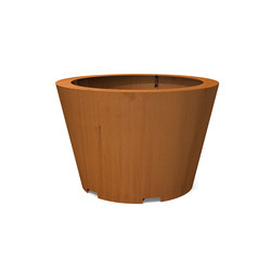 CorTen Conical Tree Tubs | Jardineras | Streetlife