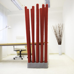 acoustic MIKADO | Sound absorbing freestanding systems | silentrooms