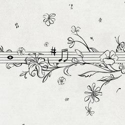 Musik Metrik | Carta da parati / carta da parati | Wall&decò