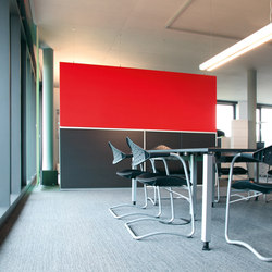 Space│partition | Sound absorbing freestanding systems | silentrooms