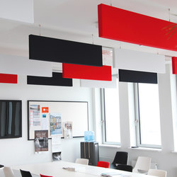 SmartLine│baffle | Sound absorbing suspended panels | silentrooms