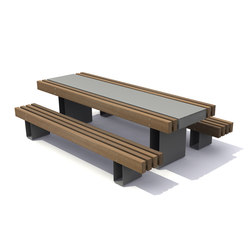 Rough & Ready Picnic set | Benches with tables | Streetlife