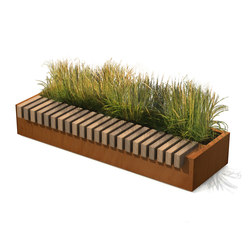 Rough & Ready Big Green Benches | Planters | Streetlife