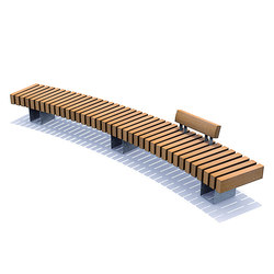Rough & Ready Curve Benches | Bancos | Streetlife