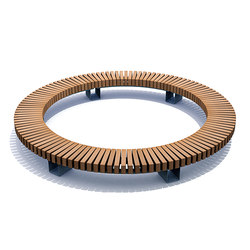 Rough & Ready Circular Benches | Bancos | Streetlife