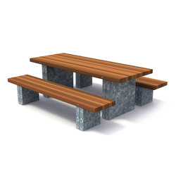 Solid Picnic Set | Benches with tables | Streetlife