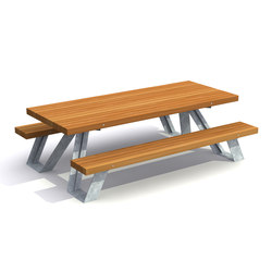 Solid X-Picnic Set | Benches with tables | Streetlife