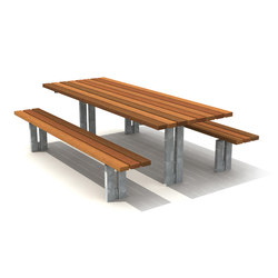 Standard Wooden Picnic Set | Benches with tables | Streetlife