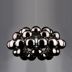 General lighting-Pendant lights in steel-Suspended lights-Beads Octo Gunmetal Pendant-Innermost