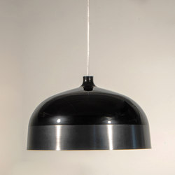Glaze Pendant Lamp 56 Black & Charcoal | General lighting | Innermost