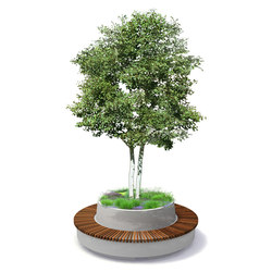 Tree Products Green Circular Benches | Jardineras | Streetlife