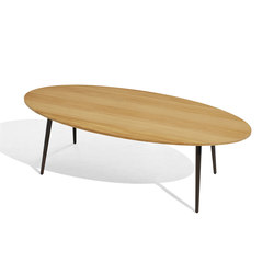 Vint mesa baja 130x60 iroko | Coffee tables | Bivaq