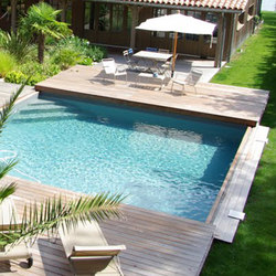 Petites piscines de piscines carr bleu petite piscine - Prix piscine carre bleu ...