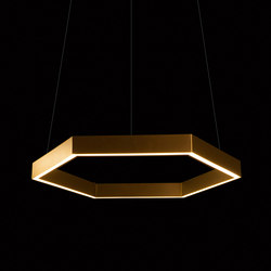 Hex 750 Brass Pendant | Suspended lights | Resident