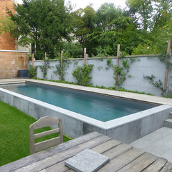 Half burried pool | Swimming pools | Piscines Carré Bleu