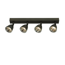 0766 Quadruple Spotlight with Shade + Transformer Weathered Brass 0820 | Allgemeinbeleuchtung | Davey Lighting Limited