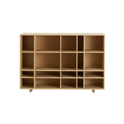 Kilt Open 120 low | Library shelving | ASPLUND