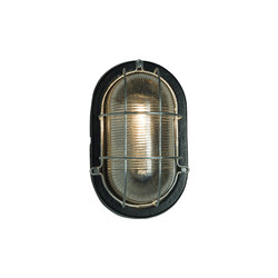 7003 Oval Aluminum Bulkhead, with Guard for GLS, Painted Black | Allgemeinbeleuchtung | Davey Lighting Limited