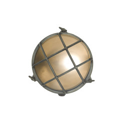 7027 Brass Bulkhead with Internal Fixing Points, Weathered Brass | General lighting | Davey Lighting Limited