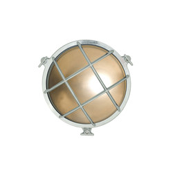 7027 Brass Bulkhead with Internal Fixing Points, Chrome Plated | General lighting | Davey Lighting Limited