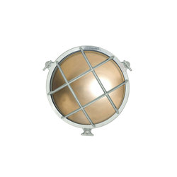 7028 Brass Bulkhead with Internal Fixing Points, Chrome Plated | General lighting | Davey Lighting Limited