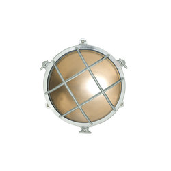 7029 Brass Bulkhead with External Fixing via Feet, Chrome Plated | General lighting | Davey Lighting Limited