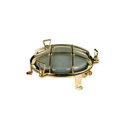 7030 Brass Bulkhead with External Fixing via Feet, Polished Brass | General lighting | Original BTC