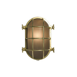 7034 Oval Brass Bulkhead with Internal Fixing, Polished Brass | Iluminación general | Davey Lighting Limited
