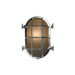 7034 Oval Brass Bulkhead with Internal Fixing, Chrome Plated | Allgemeinbeleuchtung | Davey Lighting Limited