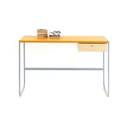 Tati Desk leather top | Bureaux individuels | ASPLUND