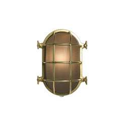 7035 Oval Brass Bulkhead with Internal Fixing, Polished Brass | General lighting | Davey Lighting Limited