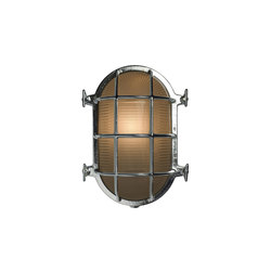 7035 Oval Brass Bulkhead with Internal Fixing, Chrome Plated | General lighting | Davey Lighting Limited