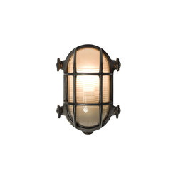 7036 Oval Brass Bulkhead with Internal Fixing, Weathered Brass | Éclairage général | Davey Lighting Limited