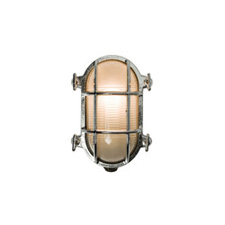 7036 Oval Brass Bulkhead with Internal Fixing, Chrome Plated | Allgemeinbeleuchtung | Davey Lighting Limited