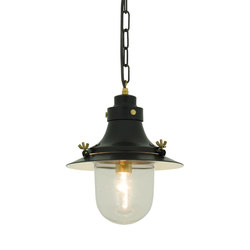 7125 Ship's Small Decklight, Painted Black, Clear Glass | General lighting | Davey Lighting Limited