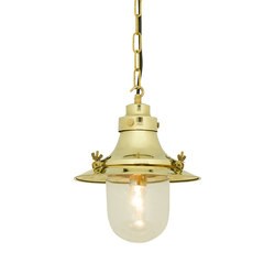 7125 Ship's Small Decklight, Polished Brass, Clear Glass | Iluminación general | Davey Lighting Limited