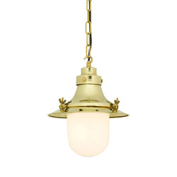 7125 Ship's Small Decklight, Polished Brass, Opal Glass | Iluminación general | Davey Lighting Limited