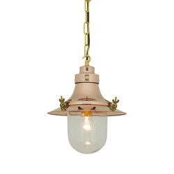 7125 Ship's Small Decklight, Polished Copper, Clear Glass | General lighting | Davey Lighting Limited