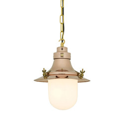 7125 Ship's Small Decklight, Polished Copper, Opal Glass | General lighting | Davey Lighting Limited