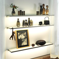 Lighting system 4 Glass shelf | Librerie con illuminazione integrata | GERA
